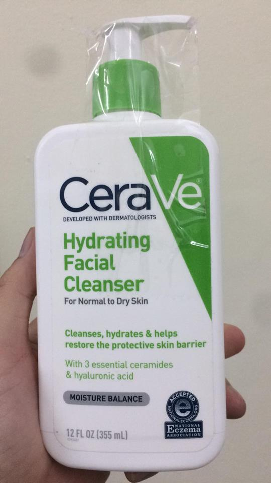 Sữa rửa mặt CeraVe Hydrating cleanser 1