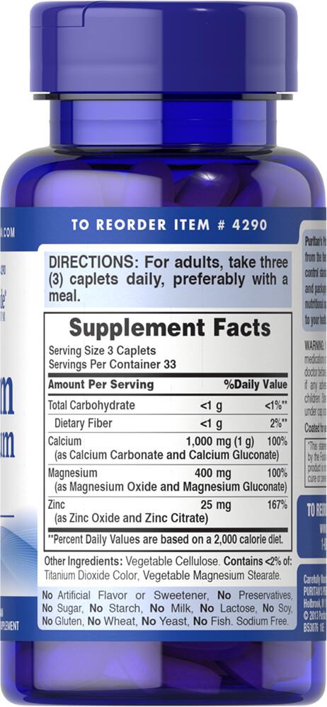 Viên bổ sung Calcium Magnesium Vitamin D3 của Puritan's Pride 2
