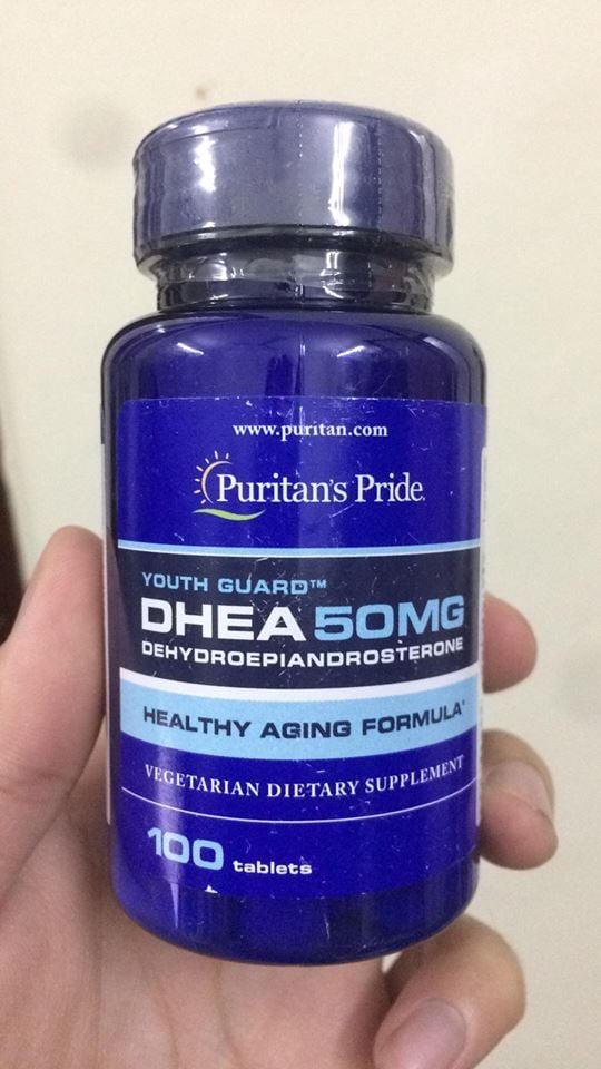 Viên uống tăng nội tiết tố cho nữ DHEA 50mg Puritan's Pride 1