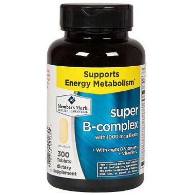 Viên uống Super B-Complex with Biotin Vitamin B Vitamin C Member's Mark 1