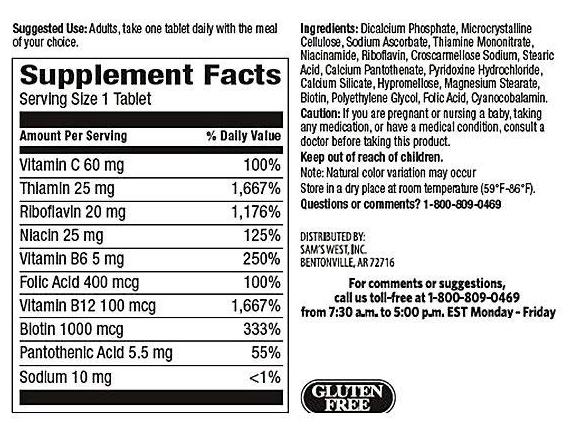 Viên uống Super B-Complex with Biotin Vitamin B Vitamin C Member's Mark 2