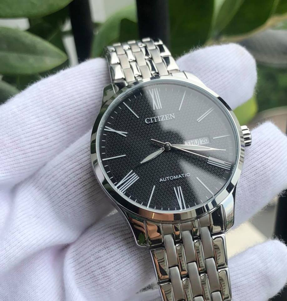 Đồng hồ Citizen NH8350-59E máy automatic, dây kim loại 1