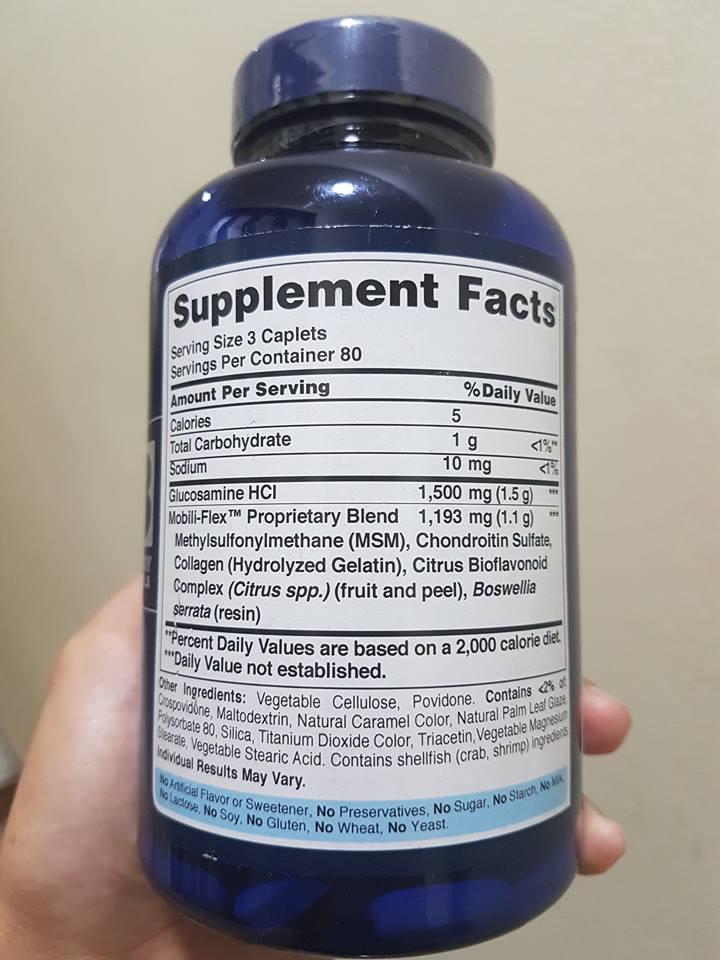 Glucosamine Chondroitin MSM Puritan's Pride 2