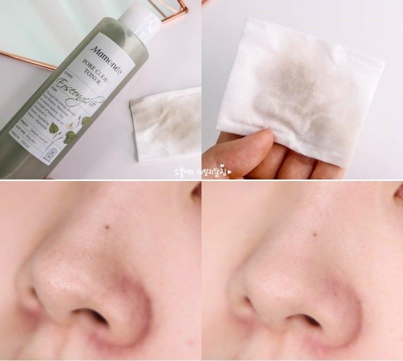Nước hoa hồng Mamonde Pore Clean Toner trị mụn, se khít lỗ chân lông 2