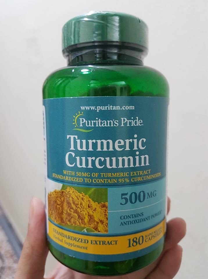 Tinh chất nghệ vàng Curcumin Puritan's Pride 500mg 180 viên của Mỹ 1