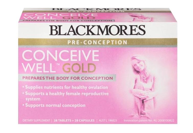 Blackmores conceive well gold tăng khả năng thụ thai cho nữ (56 viên) 2