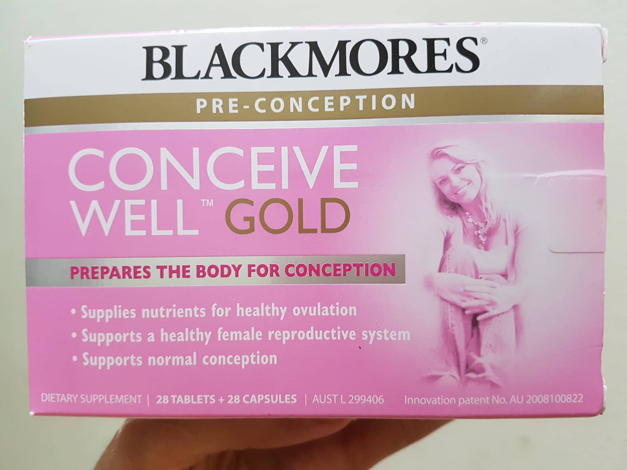 Blackmores conceive well gold tăng khả năng thụ thai cho nữ (56 viên) 1