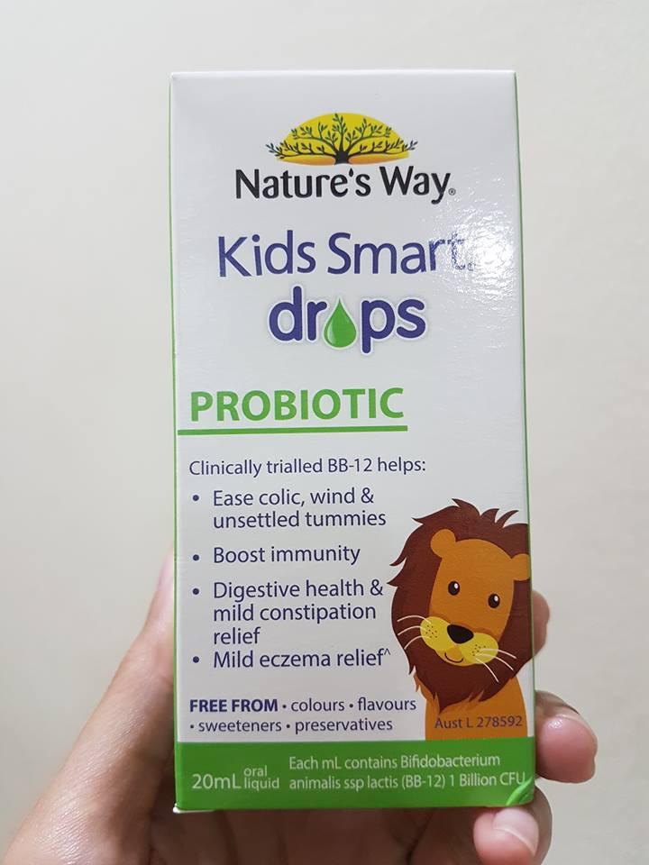 Men vi sinh cho bé dạng nước Nature's Way Kids Smart 1