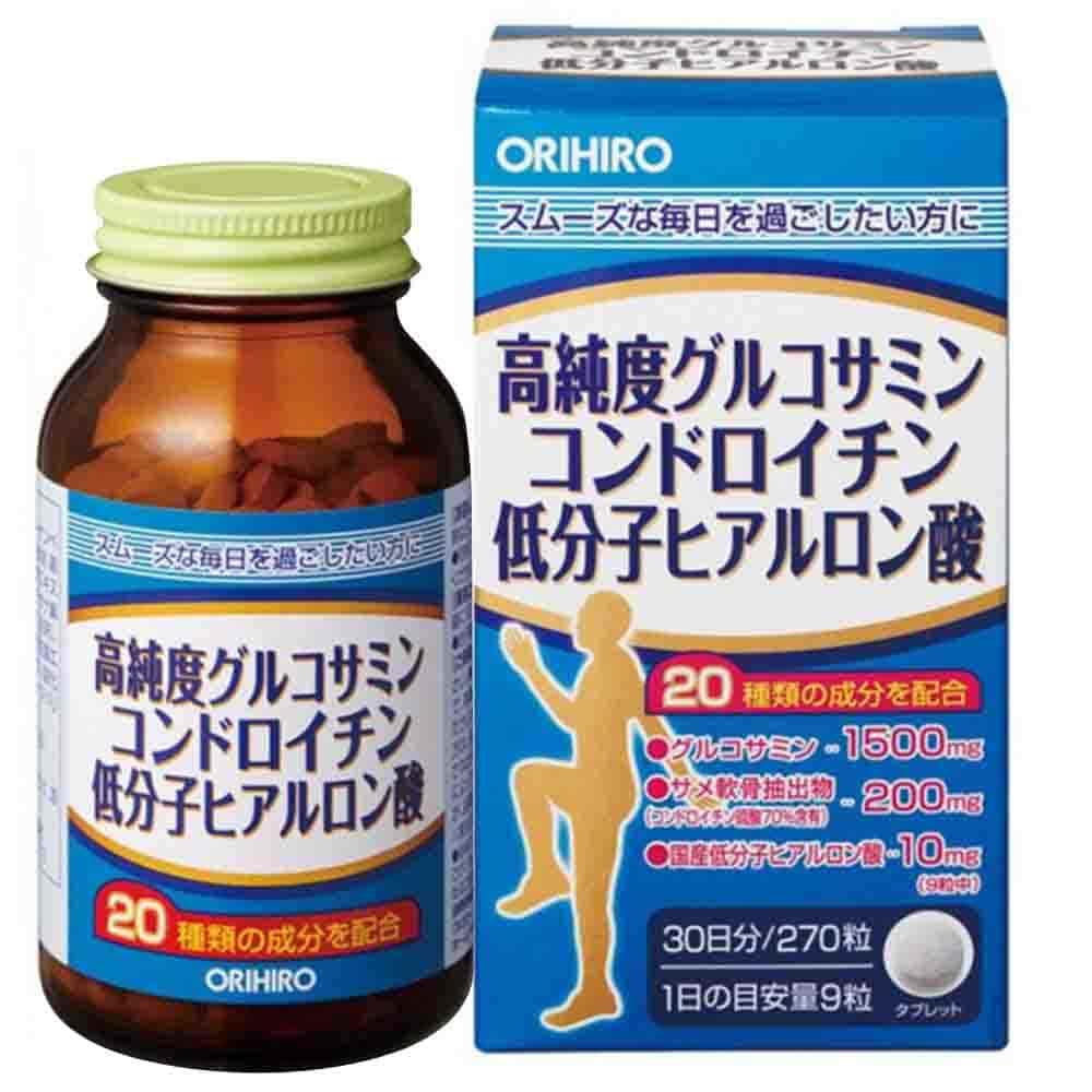 Viên bổ xương khớp Glucosamine Chondroitin Hyaluronic Acid Orihiro 1