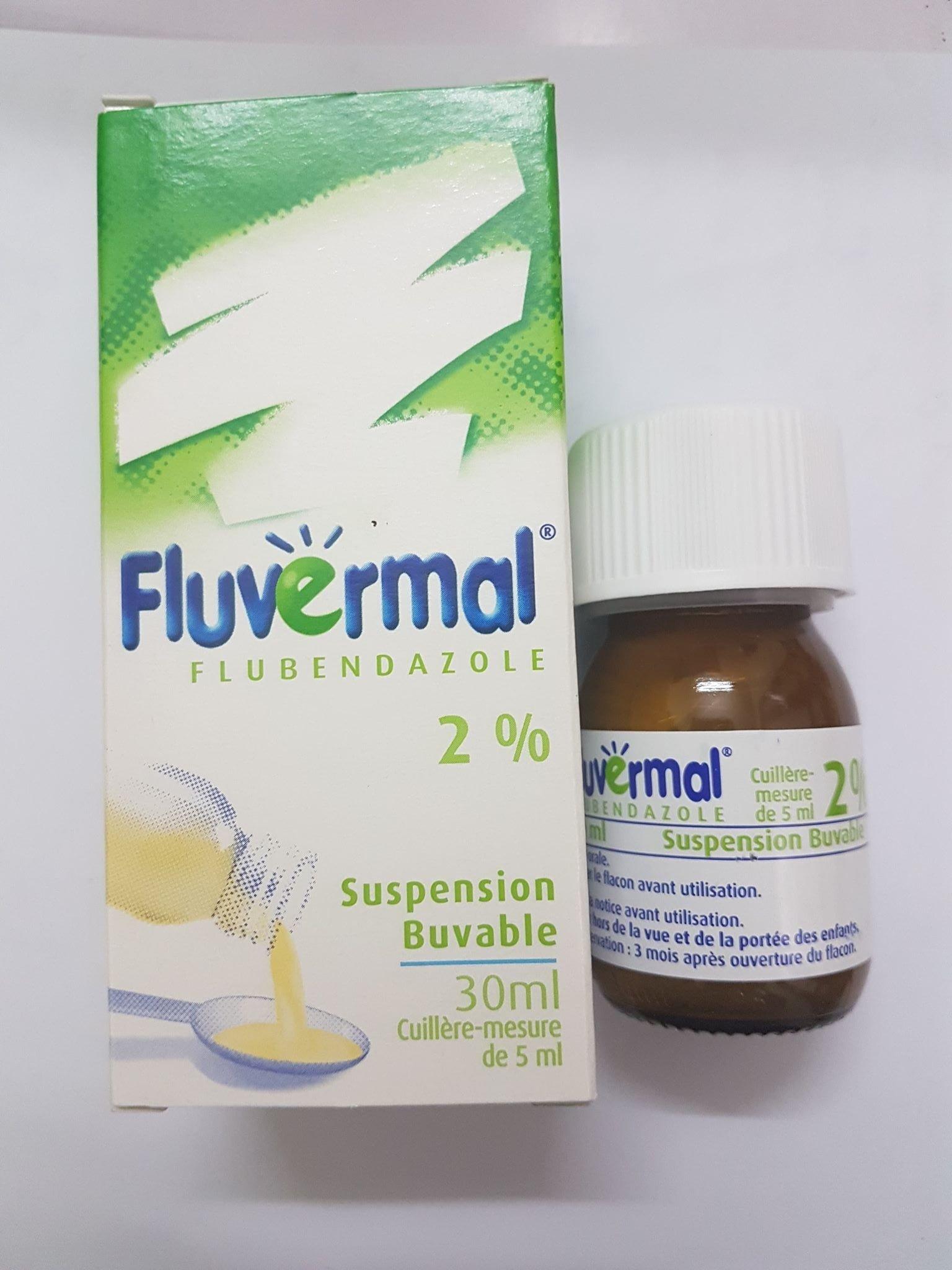 Siro Tẩy Giun Fluvermal Pháp - Dạng Nước 30ml