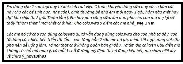 Sữa Non Colosvita (cho Trẻ Từ 0-12 Tháng Tuổi)