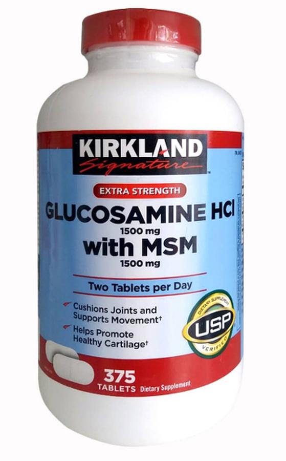 Viên Uống Glucosamine HCL 1500mg Kirkland With MSM 375 Viên