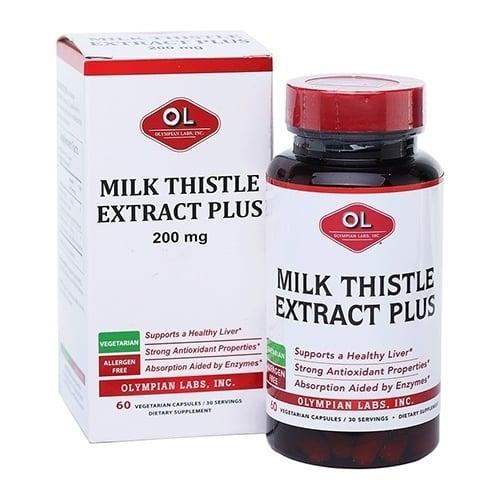 Viên uống hỗ trợ giải độc gan Milk thistle extract Plus 200mg 1