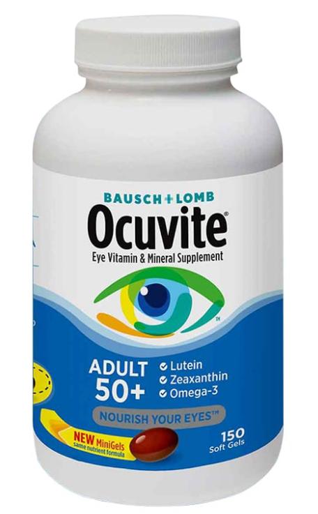 Viên uống Ocuvite Adult 50+ cho người trên 50 tuổi của Mỹ 1
