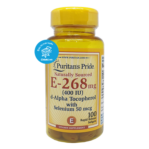 Viên uống Vitamin E 268mg with Selenium Puritan's Pride 1