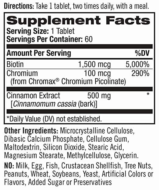 Viên uống Natrol Cinnamon Biotin Chromium chính hãng của Mỹ 2