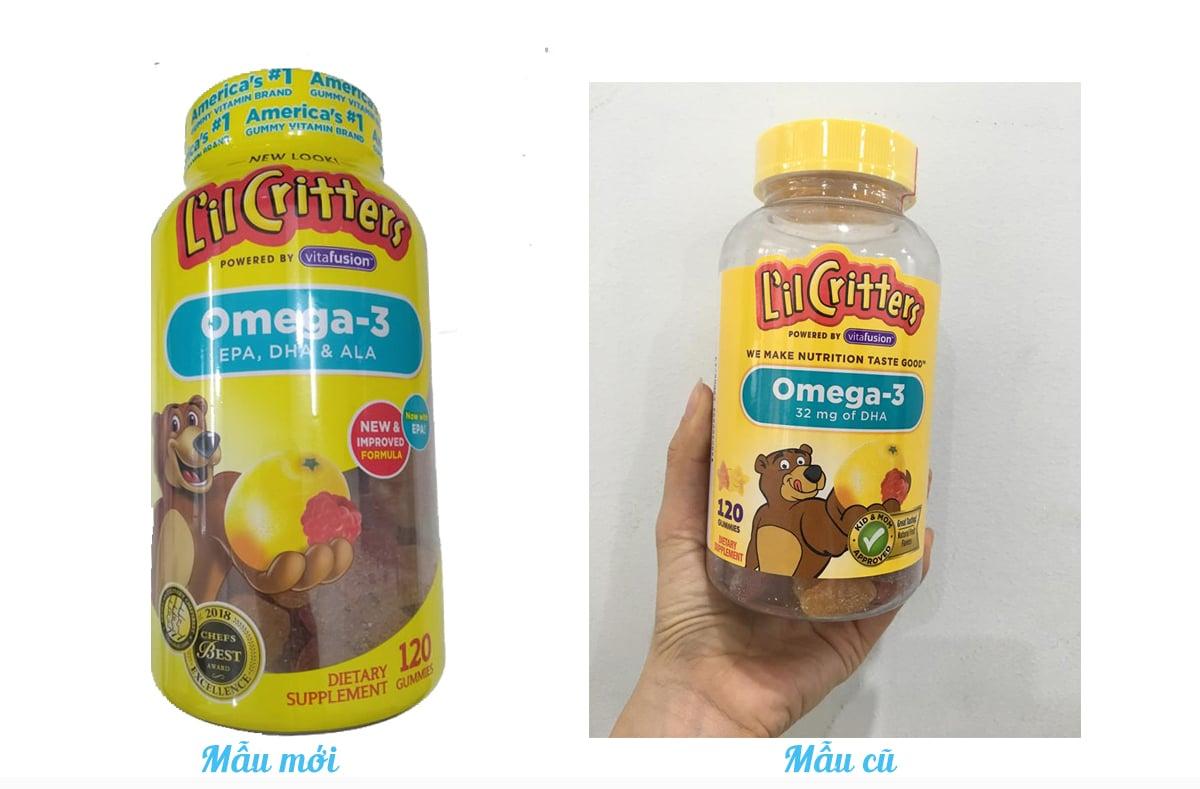Kẹo gấu L'il Critters Omega-3 DHA bổ sung DHA cho bé 2