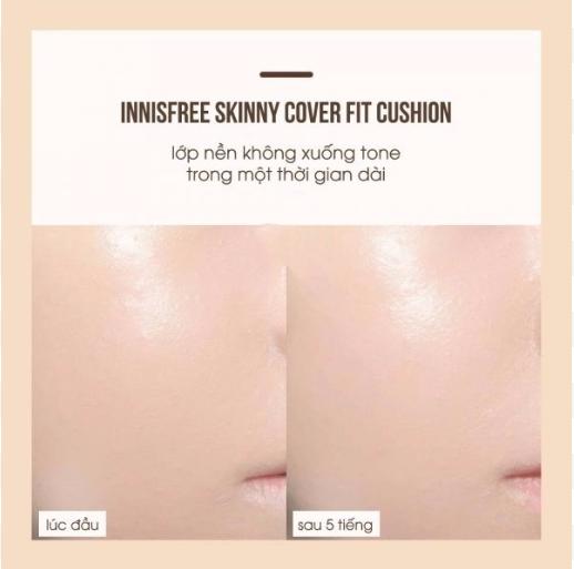 Phấn nước kiềm dầu Innisfree Skinny Coverfit Cushion 3