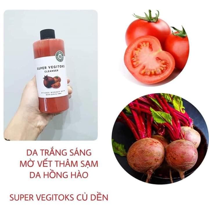 Sữa Rửa Mặt Rau Củ Super Vegitoks Cleanser
