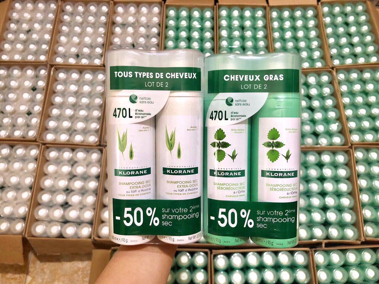 Dầu gội khô Klorane tiện dụng cho mái tóc 1