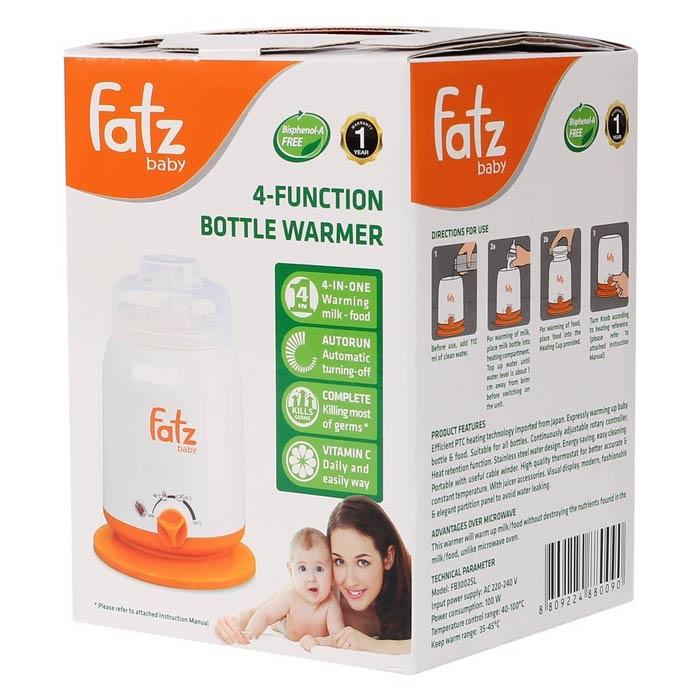Máy hâm sữa 4 chức năng fatzbaby FB3002SL