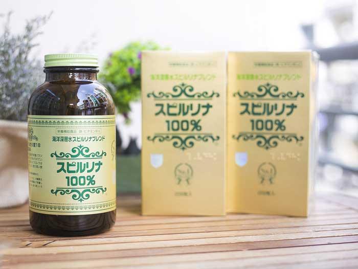 Tảo xoắn Spirulina của Nhật Bản 2200 viên uống