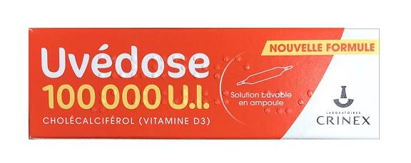 Vitamin D3 Uvedose - 1 Liều cho 3 tháng 100000 UI  1