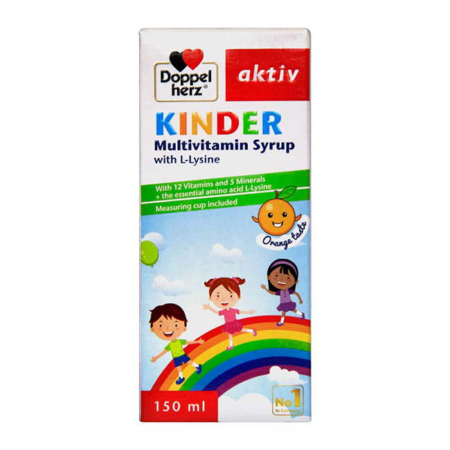 Kinder Multivitamin Syrup With L-Lysine
