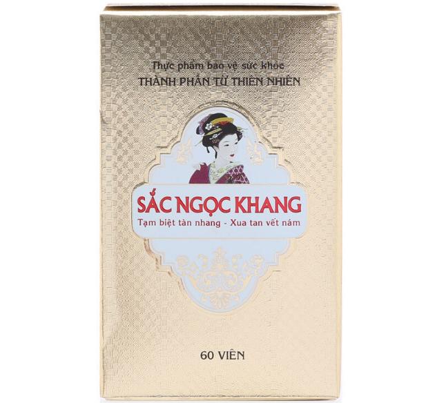 Viên Uống Sắc Ngọc Khang - Cải Thiện Nám, Tàn Nhang