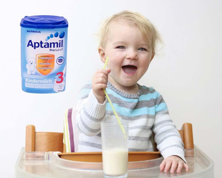 Sữa Aptamil anh số 3 cung cấp nhiều dinh dưỡng cho trẻ