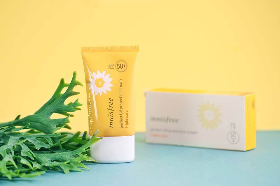 kem chống nắng innisfree perfect uv protection cream triple care SPF 50 ml