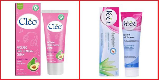 So sánh kem tẩy lông Cleo với Veet