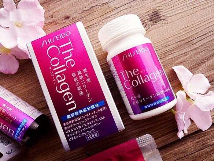 The Shiseido Collagen dạng viên tinh chất sữa ong chúa