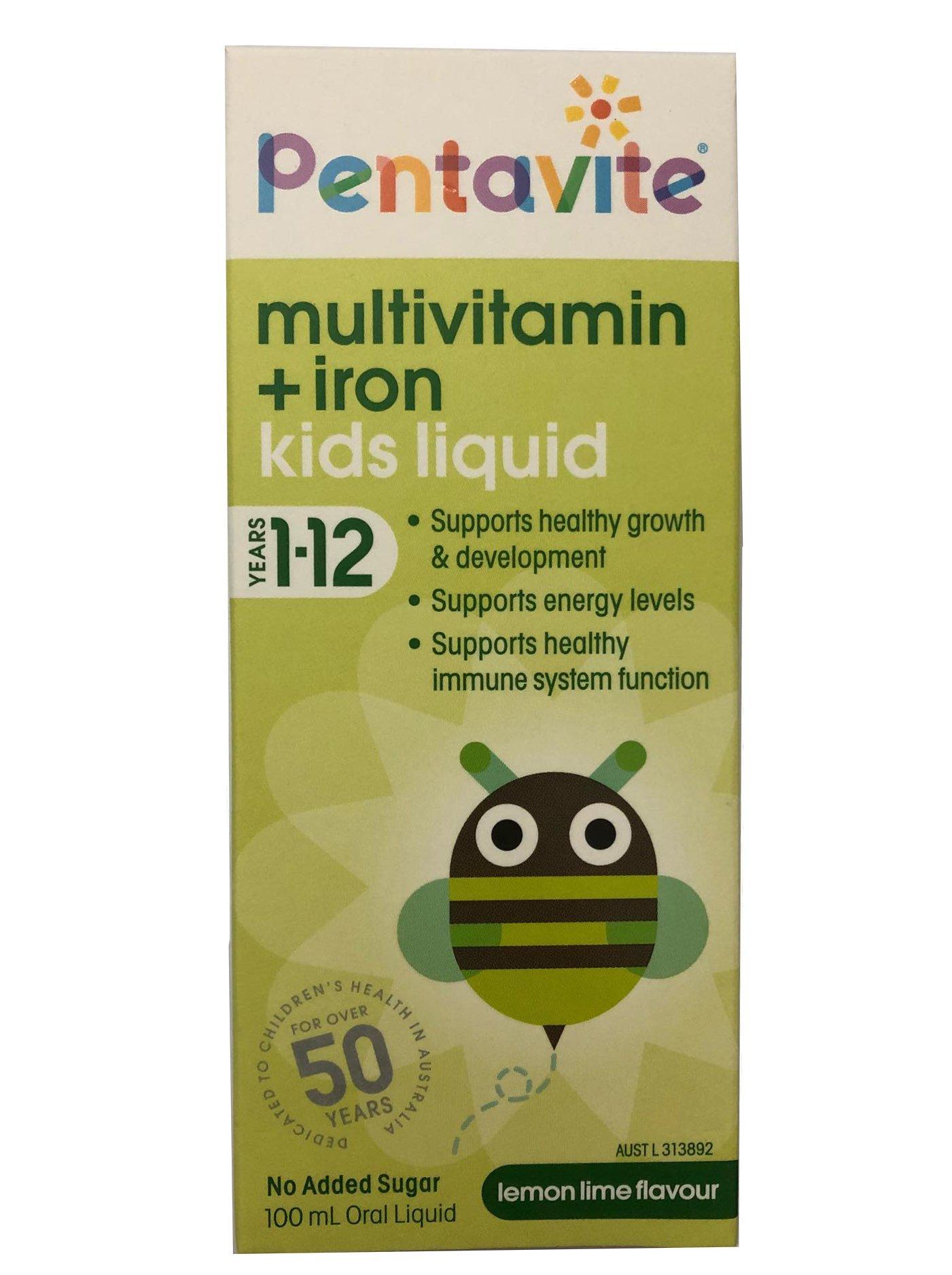 Vitamin tổng hợp và Sắt Pentavite cho bé 1 - 12 tuổi (mẫu mới)