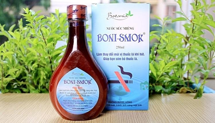 Boni smoking - nước súc miệng cai thuốc lá hiệu quả