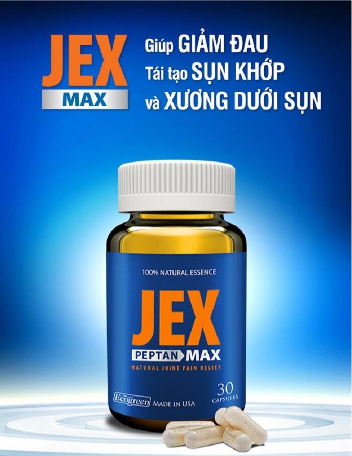 Jex Max – thực phẩm chức nănghỗ trợkhớp đến từ Mỹ