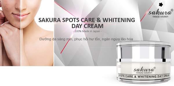 Kem trị nám Sakura ban ngày Spots Care & Whitening Day Cream