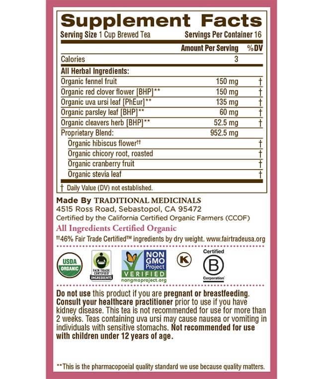 Trà thảo mộc giảm cân Organic chứa những thành phần gì
