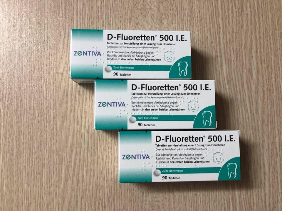 Cách sử dụng Vitamin D-Fluoretten 500 I.E