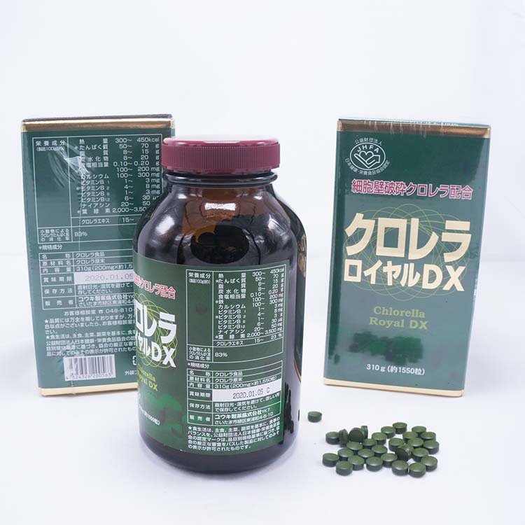 Cách uống tảo lục Hoàng Gia Nhật bản chlorella royal dx