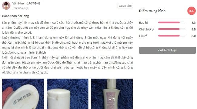 phản hồi từ phía khách hàng sử dụng dung dịch vệ sinh phụ nữ saforelle 1