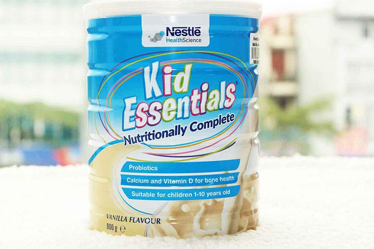 sữaKid Essentials dành cho trẻ biếng ăn, chậm tăng cân