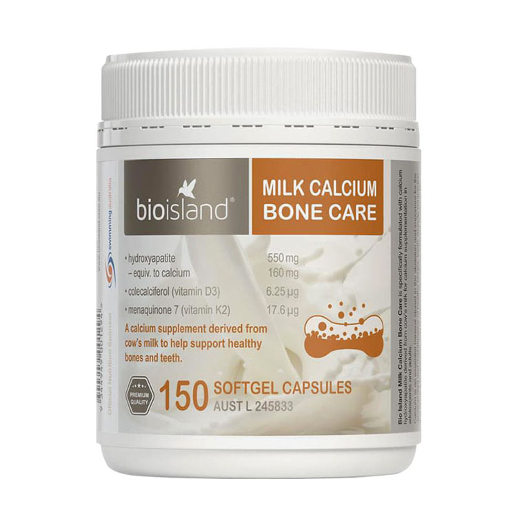 Thành phần Viên uống bổ sung Canxi Bio Island Milk Calcium Bone Care
