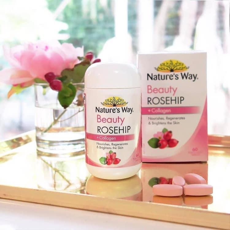 Viên uống Nature's Way Beauty Rosehip + Collagen60 viên