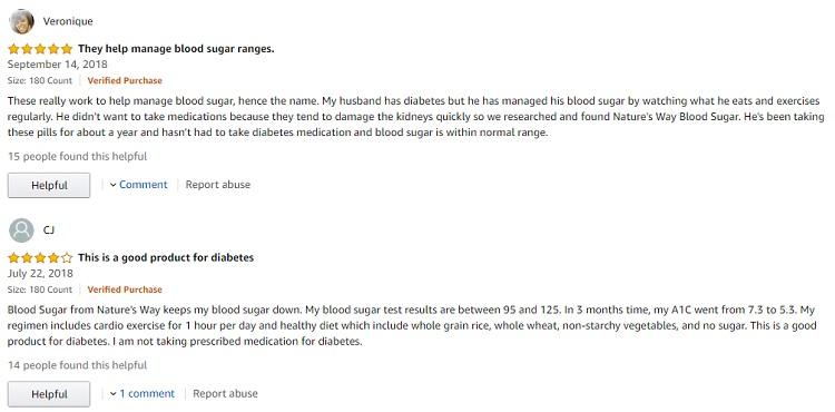 Phản hồi từ phía khách hàng sử dụng Blood Sugar Nature's Way 1