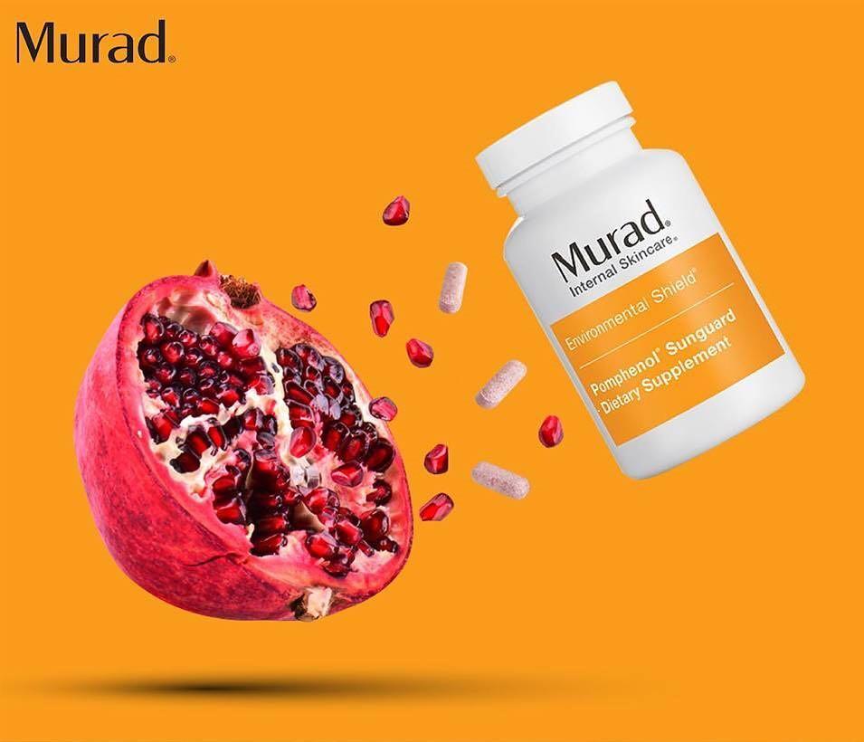 Viên uống chống nắng Murad Pomphenol Sunguard Dietary Supplementchiết xuất từ thành phần chính trái lựu đỏ