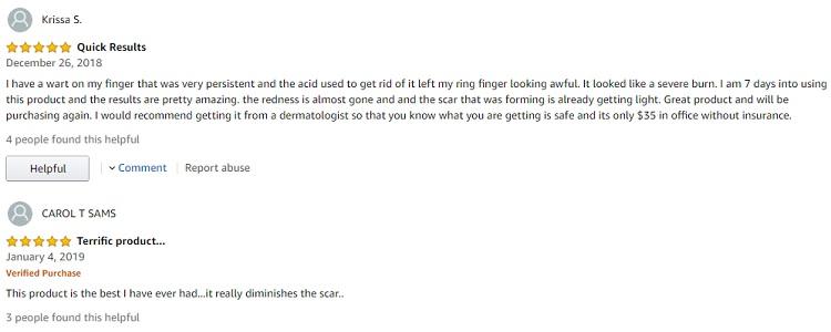 Phản hồi từ phía khách hàng sử dụng Gel hỗ trợ cải thiện sẹo Stratamed 2