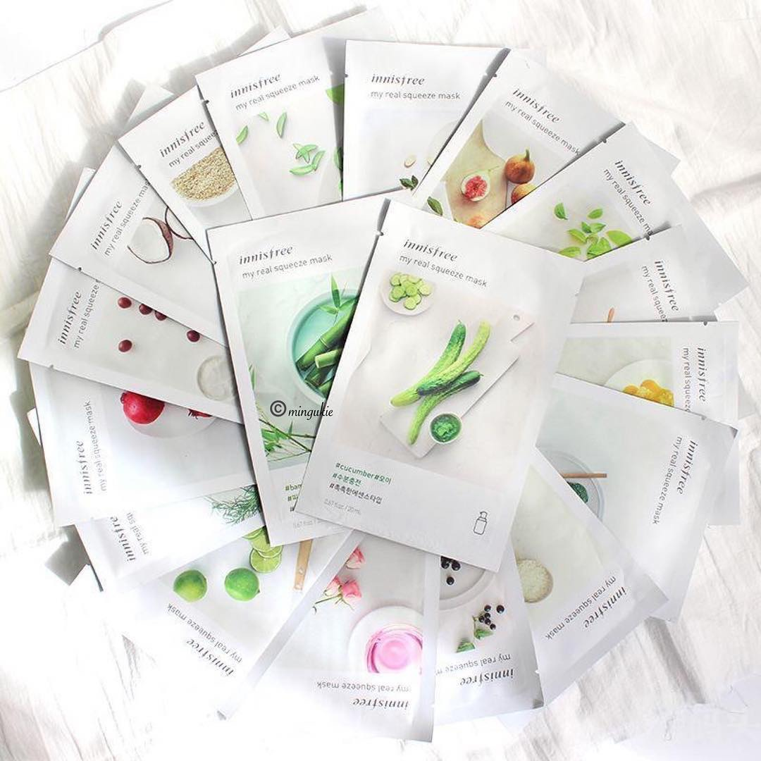 Mặt nạ Innisfree My Real Squeeze Mask dưỡng da an cao cấp