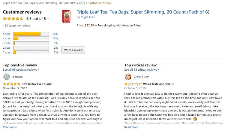 Phản hồi từ phía khách hàng sử dụng Trà thảo mộc giảm cân Super Slimming 3