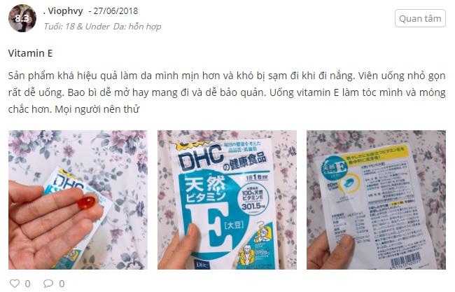Phản hồi từ phía khách hàng sử dụng Viên uống DHC bổ sung vitamin E 2